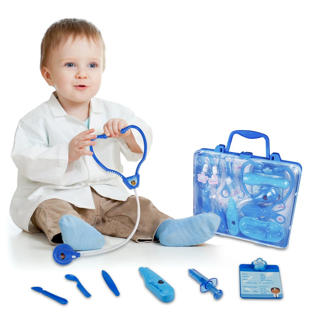 TONZE Doctors Kit Pretend Play for Kids Toy Medical Carrycase Kit Nurse Doctor Role Play Toys for 3 Year Old Boys Girls XIERTAI