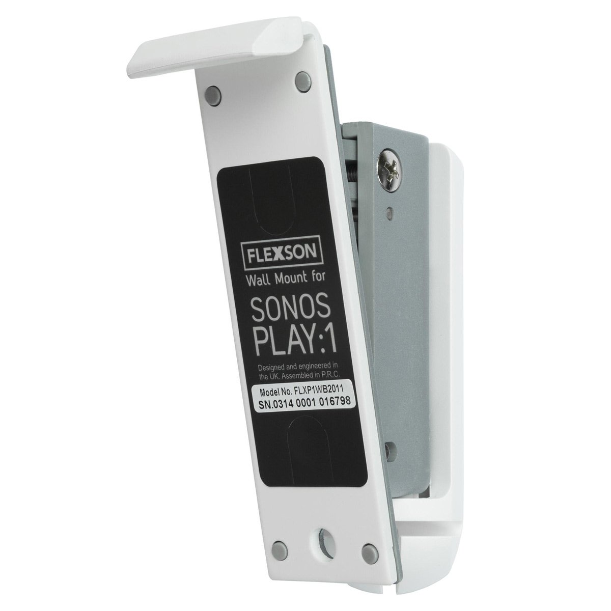 Flexson Wall Mount for Sonos PLAY:1 with Mounting Hardware - Each (White)