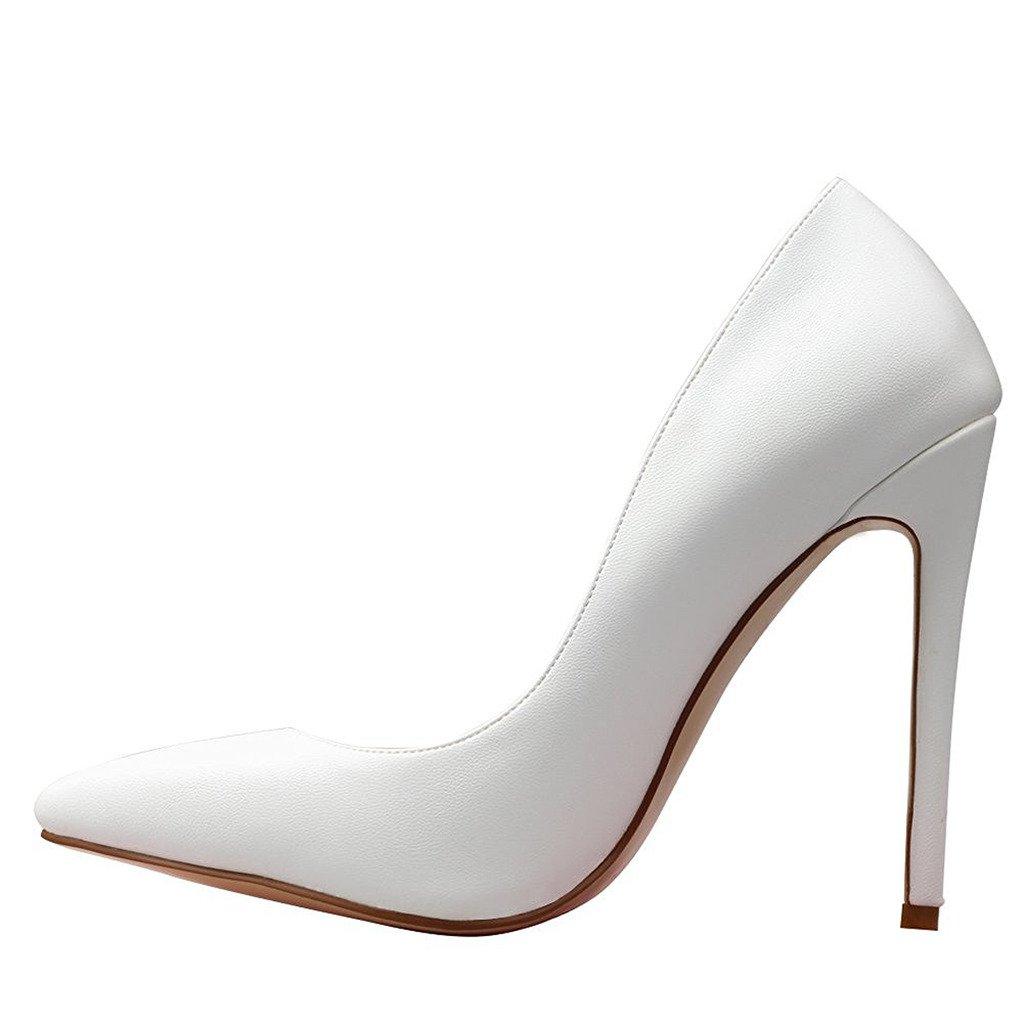 Jushee - Sandalias con cuña mujer 13 UK/46 EU/15 US|Blanco