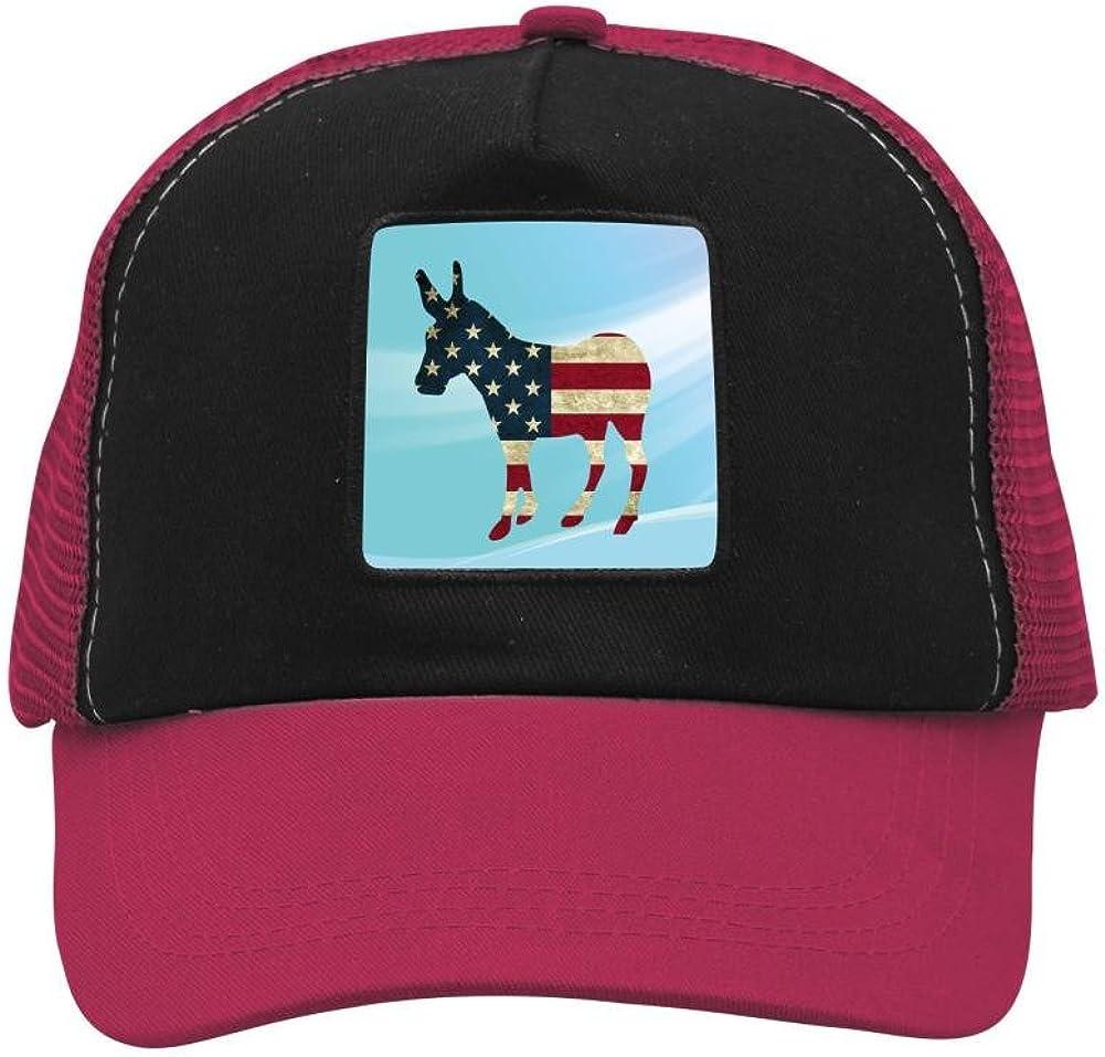 Nichildshoes hat Mesh Caps Hats for Men Women Unisex Print Donkey USA Flag