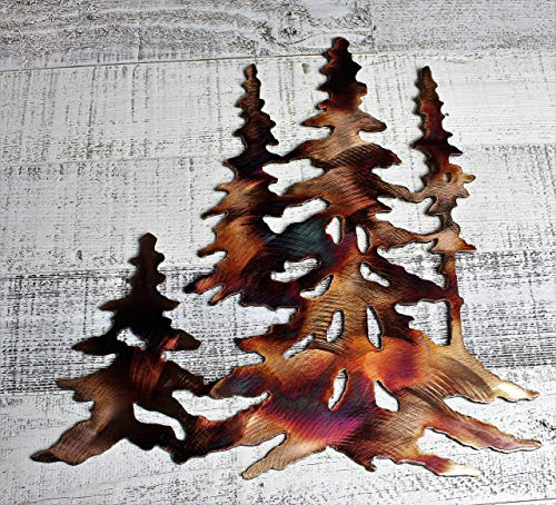 Forest Trees Metal Wall Art Decor