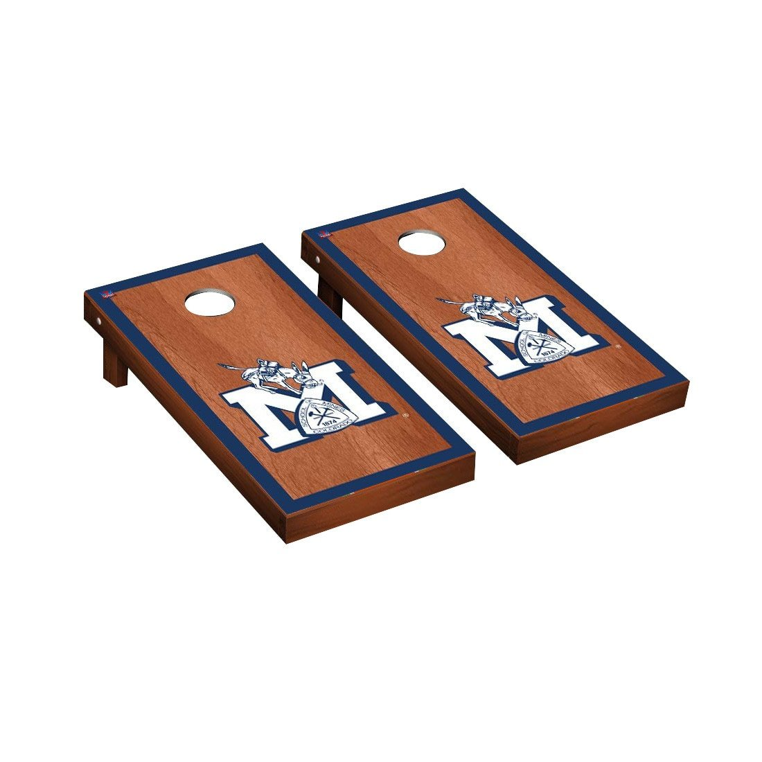 Victory Tailgate Colorado Mines Orediggers Regulation Cornhole Game Set Rosewood Stained Border Version