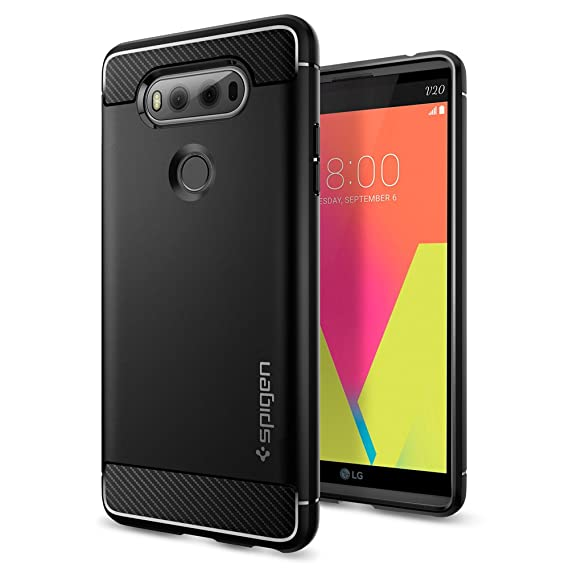 hot sale online b1143 4fb78 Spigen Rugged Armor Designed for LG V20 Case (2016) - Black
