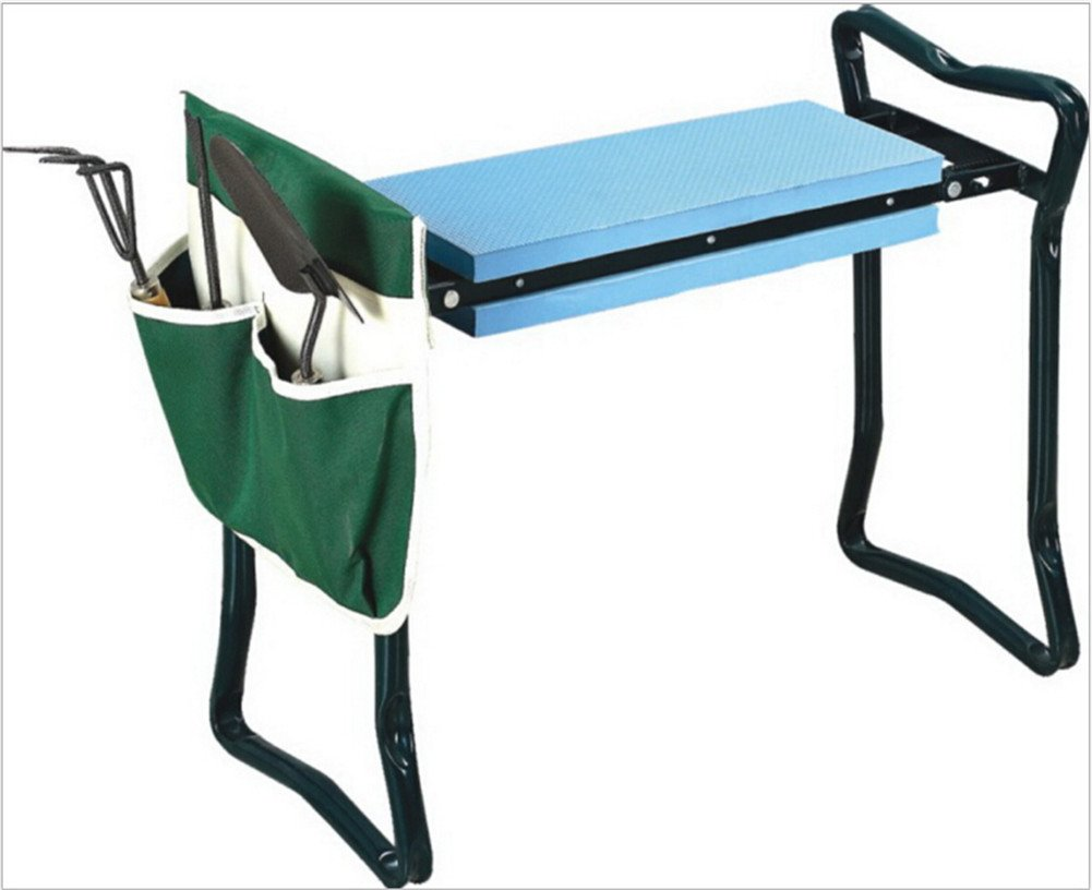 Sokey Folding Garden kneeler Multifuncational Garden /Chair /Seat/Stool with Tool Holder,Green