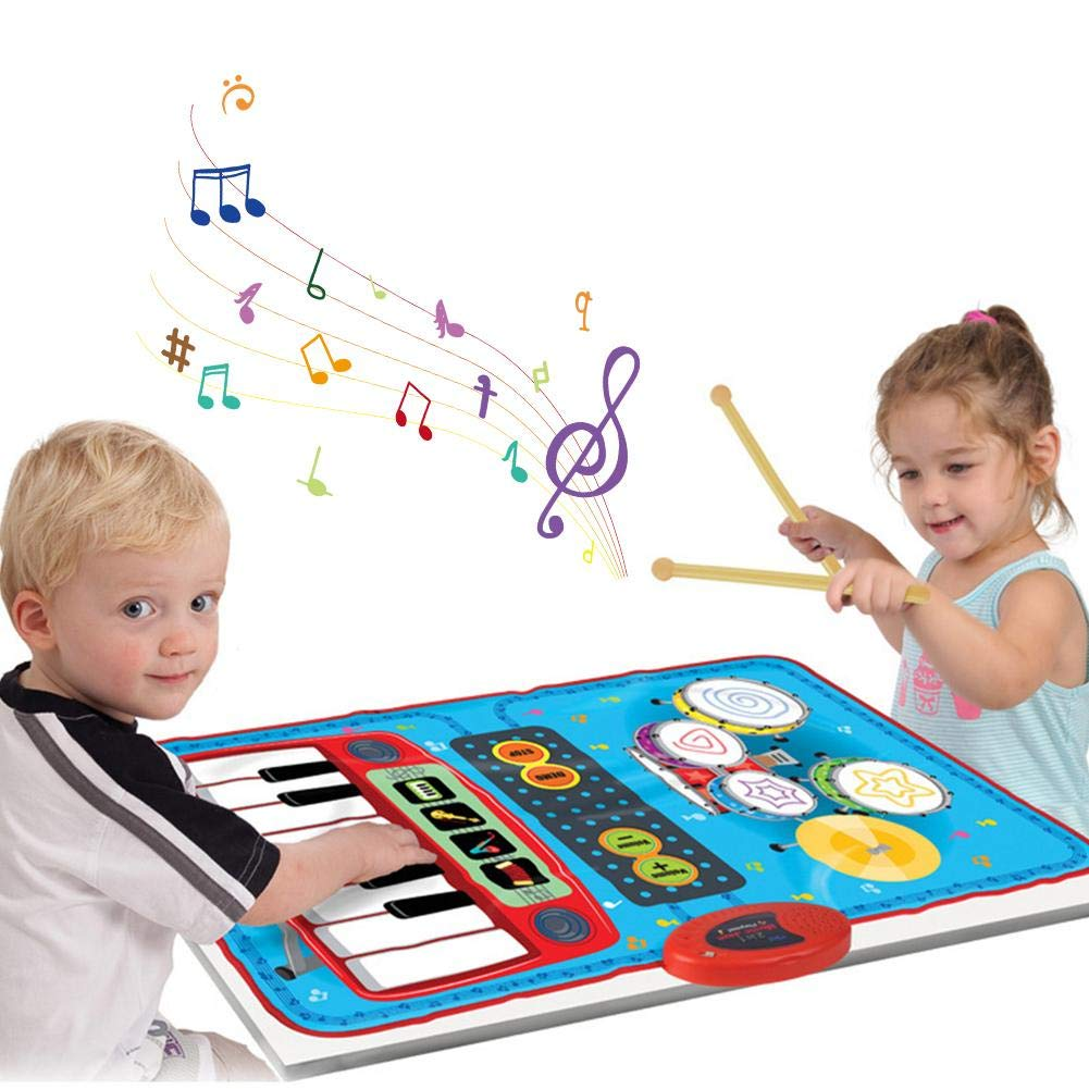 Window-pick@BB Children's Dance Mat Jazz Drum Home Multifunctional Electric Piano Early Education Puzzle Music Game Mat Blanket