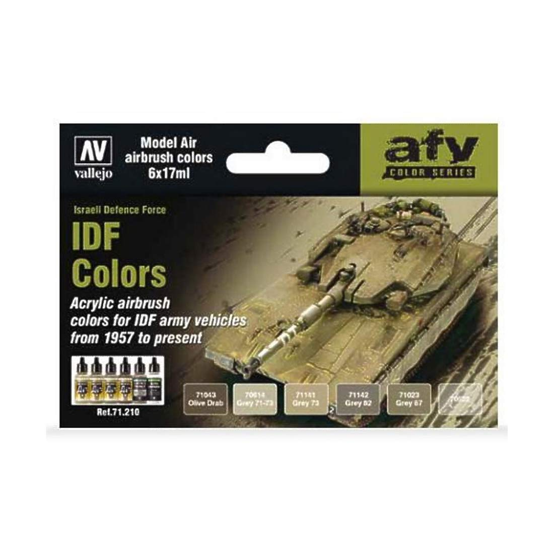 Vallejo Model Air set  –   Idf Army colori 71210