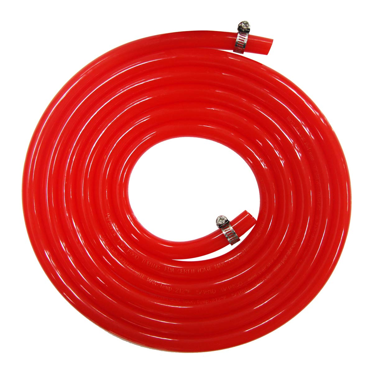 Homebrewing Kit CO2 Gas Line - Brand Luckeg including Gas Hose 5/16 inch ID, 9/16 inch OD,10ft Length, 2 PCS Stainless Steel Worm Clamp, used for Beer Keg, Beer Kegerator, Quality Guarantee by LUCKEG