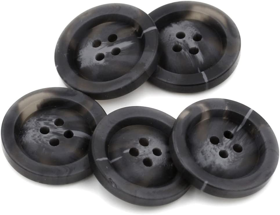 negro para manualidades 10 botones de resina para abrigo 4 agujeros patrones de costura 18 mm