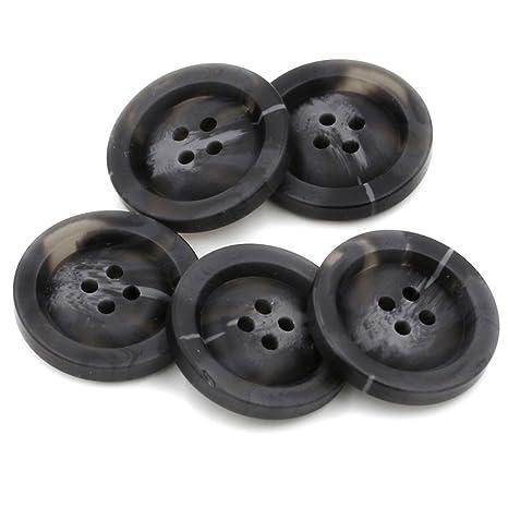 10 piezas resina botones abrigo botones traje patrón de costura para manualidades paquetes 4 agujeros,