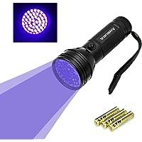 Vansky® UV Schwarzlicht Taschenlampe mit 51 LEDs | Haustiere Urin-Detektor für Eingetrocknete Flecken Ihrer Hunde, Katzen und Nagetiere auf Teppichen, Vorhänge, Gardinen, Möbel und Anderen Stoffen | inkl. 3xAA-Batterien