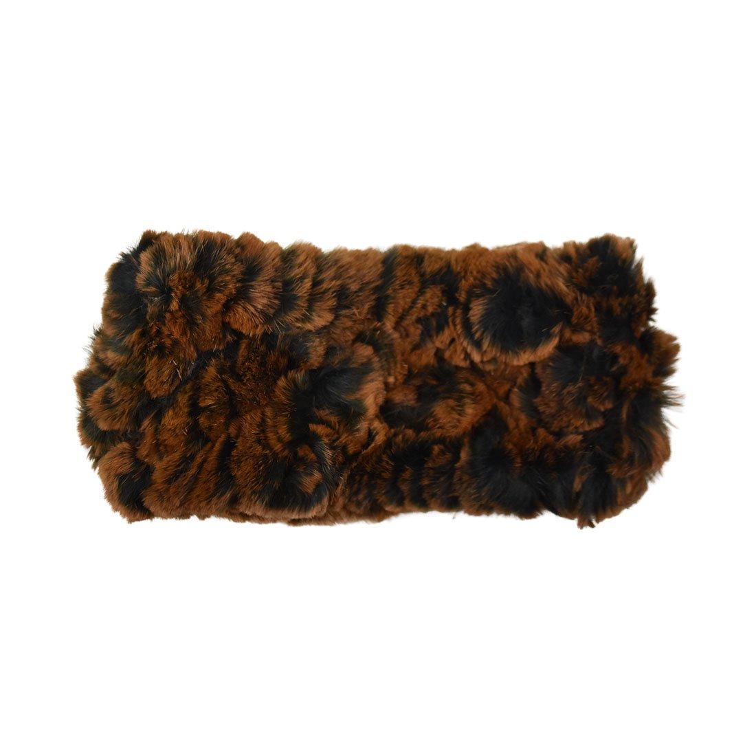Reversable Rabbit Fur/Cable Knit Kids Ear Muffler Head Wrap DCEM0027