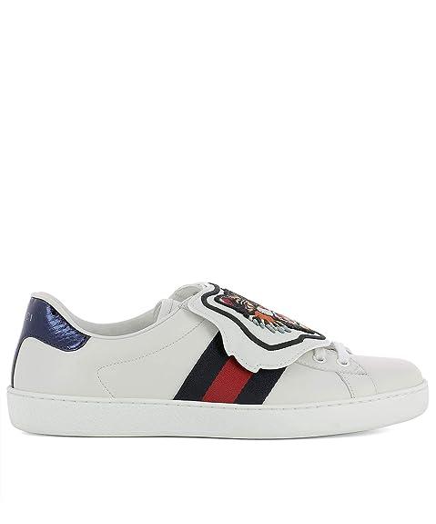 GUCCI 478190D0P809182 Hombre Blanco Cuero Zapatillas: Amazon.es: Zapatos y complementos