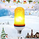 hotels close t - LED Flame Effect Light Bulb, DINPEI E26 Flickering Flame Light Bulb, Simulated Decorative Light Led Flame Light Bulbs for Christmas, Home/Garden/Bar/Hotel/Restaurant
