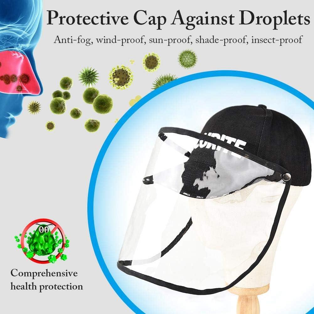 berretto da baseball integrale antipolvere rimovibile Prevenire saliva visiera protettiva per occhiali da pesca anti-spruzzo Sun Cap Berretto protettivo antisfondamento per visiera di sicurezza