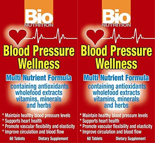 Pressure 60 Tabs (Bio Nutrition Blood Pressure Wellness - 60 Tablets -pack of 2 by Bio Nutrition)