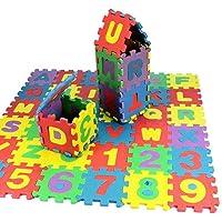 FnieYxiu Educational Toys, 36Pcs/Set Child Kids Novelty Alphabet Number EVA Foam Puzzle Learning Mats Toy