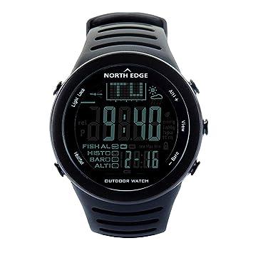 Deportes al Aire Libre Pesca Reloj, Impermeable Barómetro Digital Inteligente Reloj del termómetro del altímetro