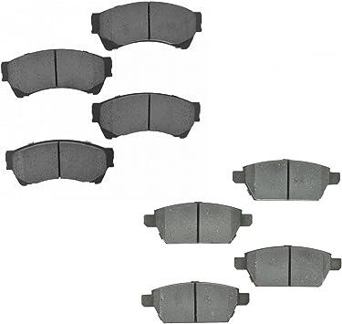 Nakamoto Rear Ceramic Brake Pad Kit for Ford Fusion MKZ Zephyr Mazda6 Mazda 6