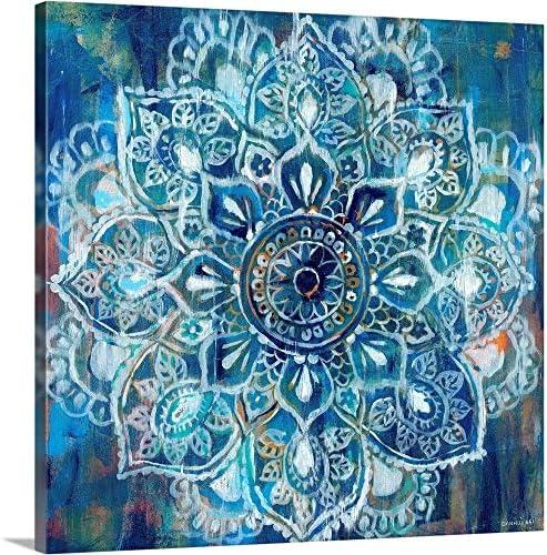 Mandala In Blue Ii Canvas Wall Art Print Buy Online In Israel At Desertcart
