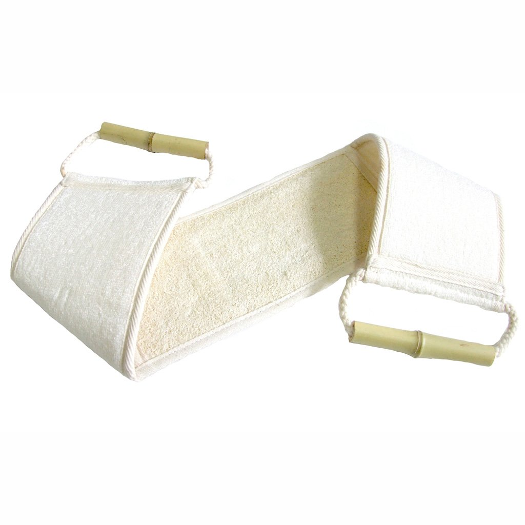 Hydrea London Natural Bamboo And Loofah Back Strap BLBS