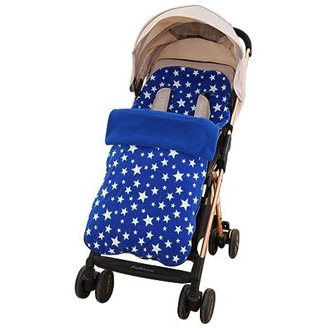 Oraunent Saco de Invierno Dormir de Forro Polar Interior Térmico para Carrito Cochecitos Silla de Bebés Niños Ultra Cómodo Engrosado Universal Azul