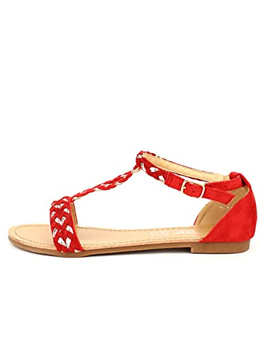 Taille Chaussures 44 Rouge Looks Me CendriyonSandales Femme KTJcl13F