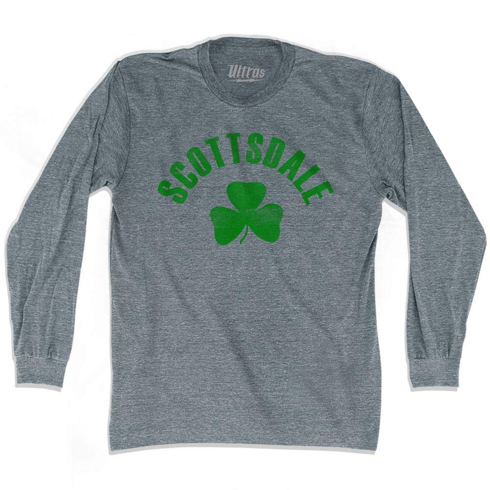 Scottsdale City Shamrock Tri-Blend Long Sleeve T-Shirt