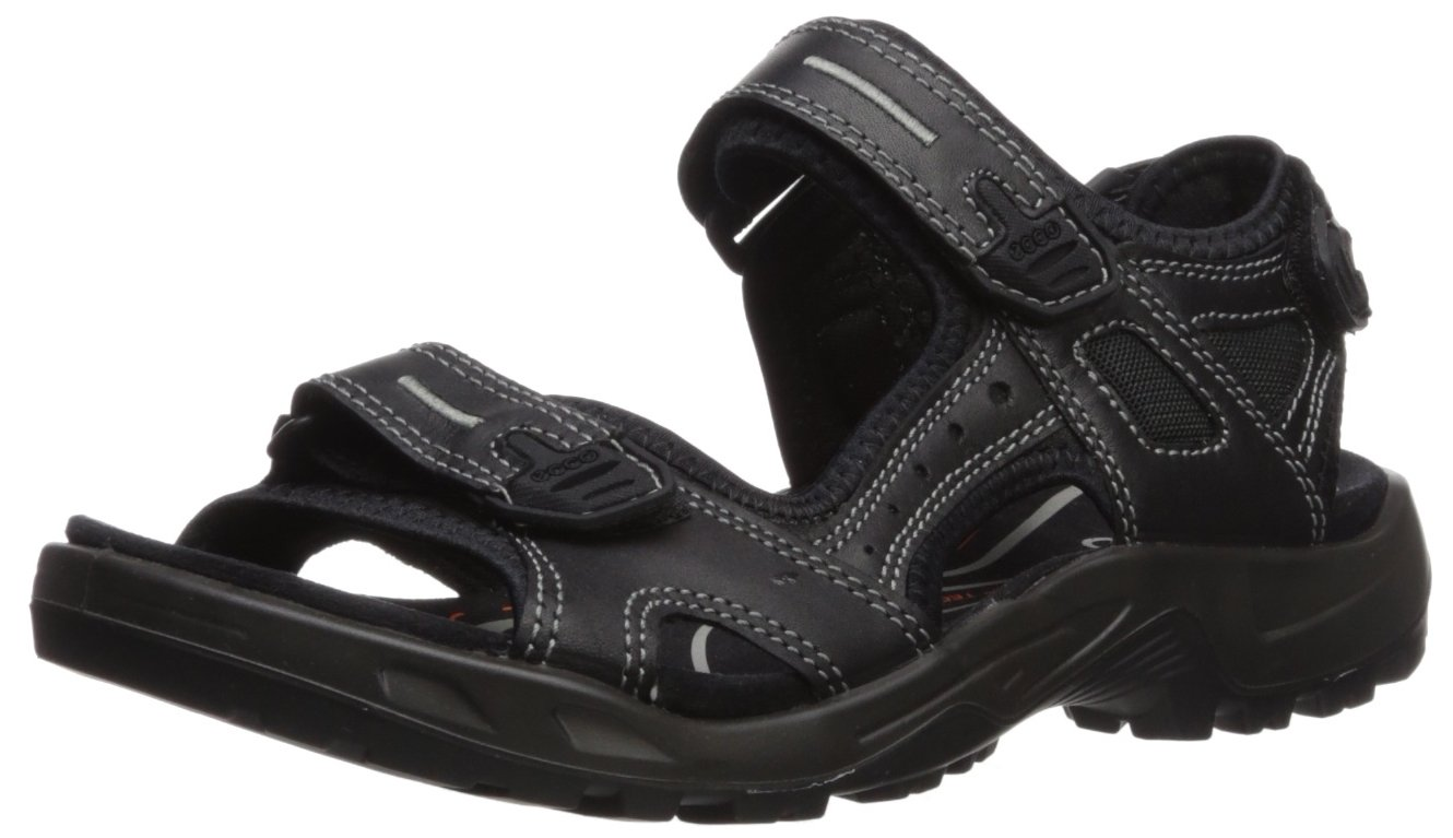 ECCO Men's Yucatan Athletic Sandal, Black Lux Leather, 42 EU/8-8.5 M US