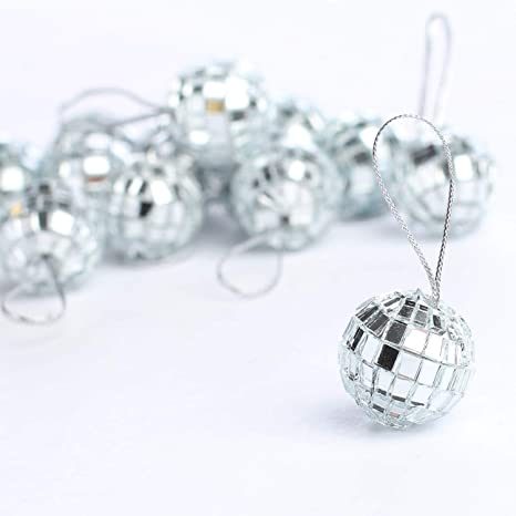 Brilliant Mini 7 8 Mirrored Disco Ball Ornaments Total Of 30 2 Packages Of 15 Beutiful Home Inspiration Xortanetmahrainfo