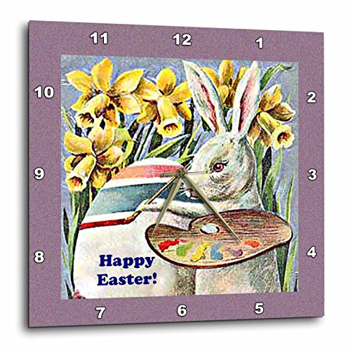 Wall Clock, Easter Rabbit Artist, - Easter wall decorations