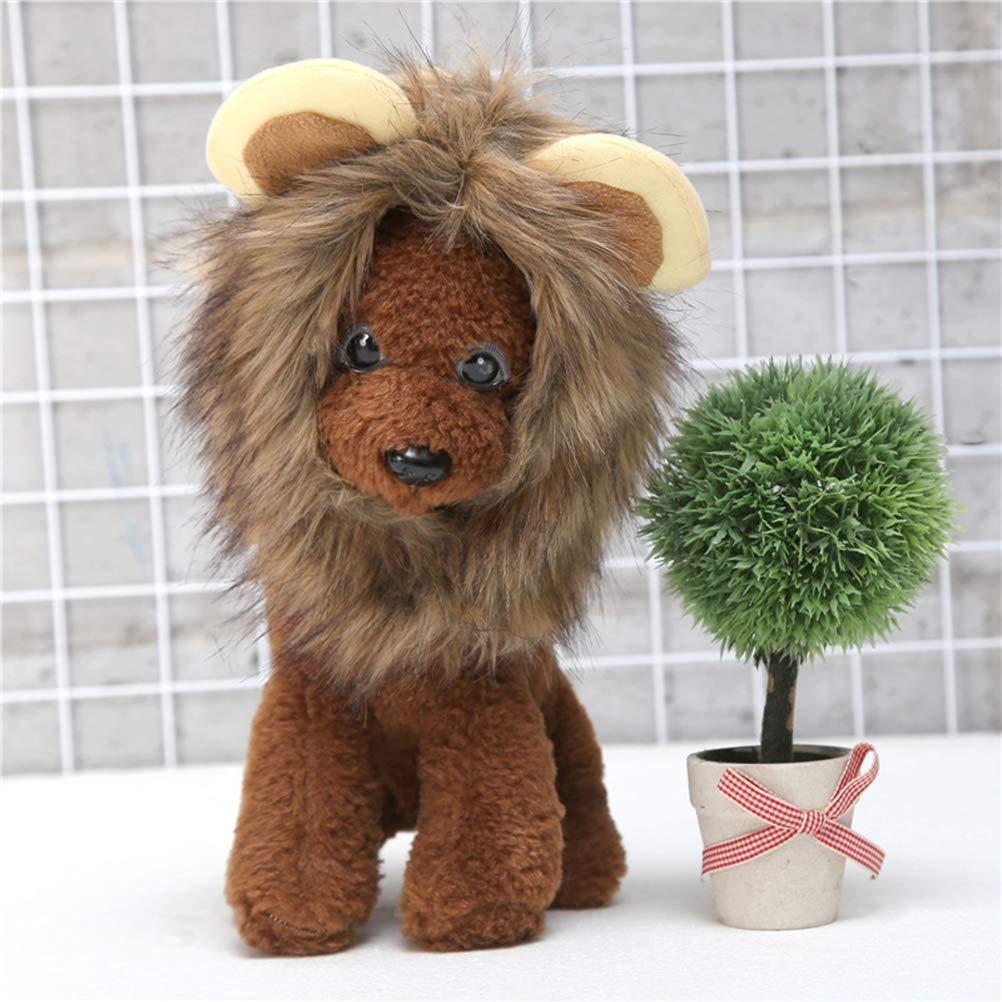 POPETPOP Peluca Disfraz de León para Gatos Cachorro con Melena Sombrero Ajustable para Mascotas los Gatos y Perrito - Talla L: Amazon.es: Productos para ...