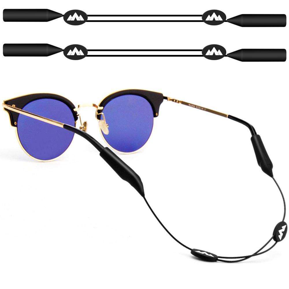 maxin 2pack ajustable gafas de retención, 16 pulgadas sin correas de la cola gafas de sol, sostenedor de gafas de sol, retenedor de gafas de sol ...