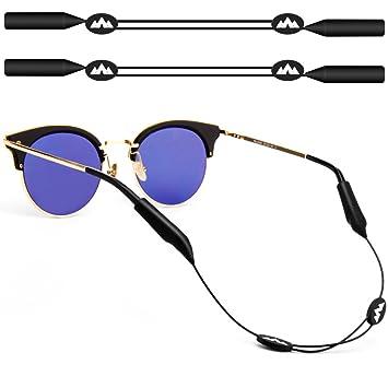 maxin 2pack ajustable gafas de retención, 16 pulgadas sin correas de la cola gafas de