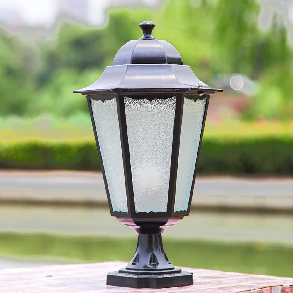 HDMY European Style Patio Light Column Headlamp Waterproof Diamond Outdoor Light Gate Pillar Light E27 Courtyard Garden Light Fixture