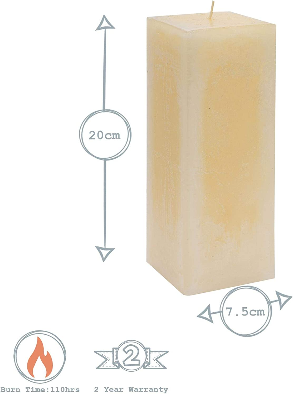 Nicola Spring Candele profumate alla Vaniglia Medium Small Large 6 Pezzi quadrate