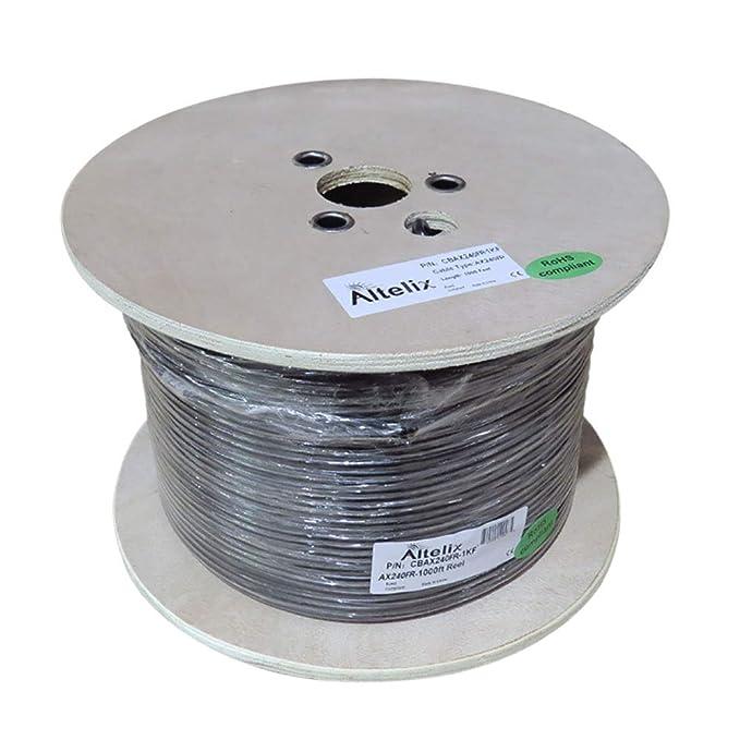 altelix AX240 240 Serie RG8 X cable coaxial de baja pérdida 1000 ...