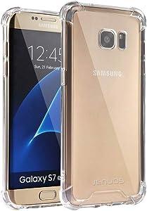 Jenuos Funda Samsung S7 Edge, Transparente Suave Silicona Protector TPU Anti-Arañazos Carcasa Cristal Caso Cover para Samsung Galaxy S7 Edge - Transparente (S7E-TPU-CL)