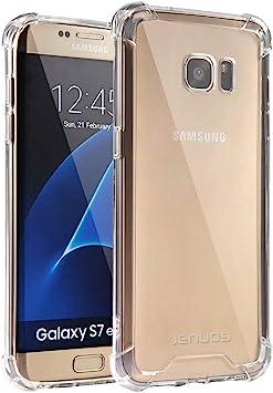 Coque Samsung Galaxy S7 Edge, Jenuos Transparent Coque Antichoc Etui en Silicone TPU pour Samsung Galaxy S7 Edge 5.5