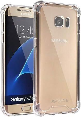 Jenuos Funda Samsung S7 Edge, Transparente Suave Silicona ...
