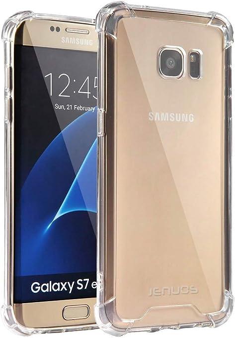 Jenuos Funda Samsung S7 Edge, Transparente Suave Silicona Protector TPU Anti-Arañazos Carcasa Cristal Caso Cover para Samsung Galaxy S7 Edge: Amazon.es: Electrónica
