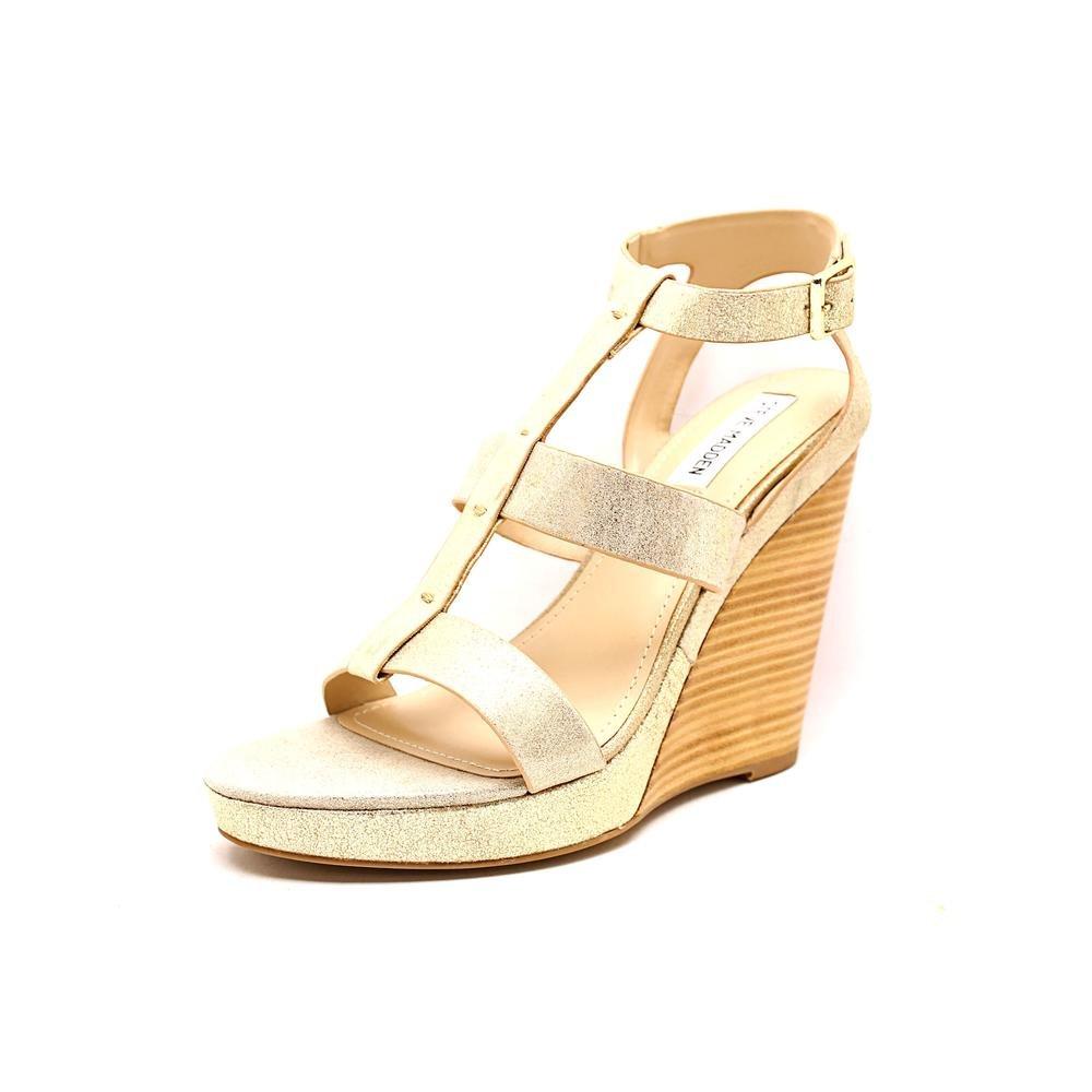 Steve Madden Women's Iris Wedge Sandal B00F9EBEYI 8 B(M) US|Dusty/Gold