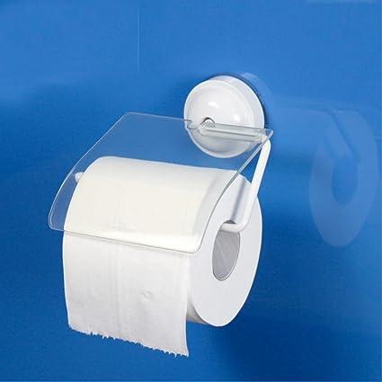 SDKKY-Sostenedor de papel higiénico cubierto para superior resistente al agua, polvo de succión