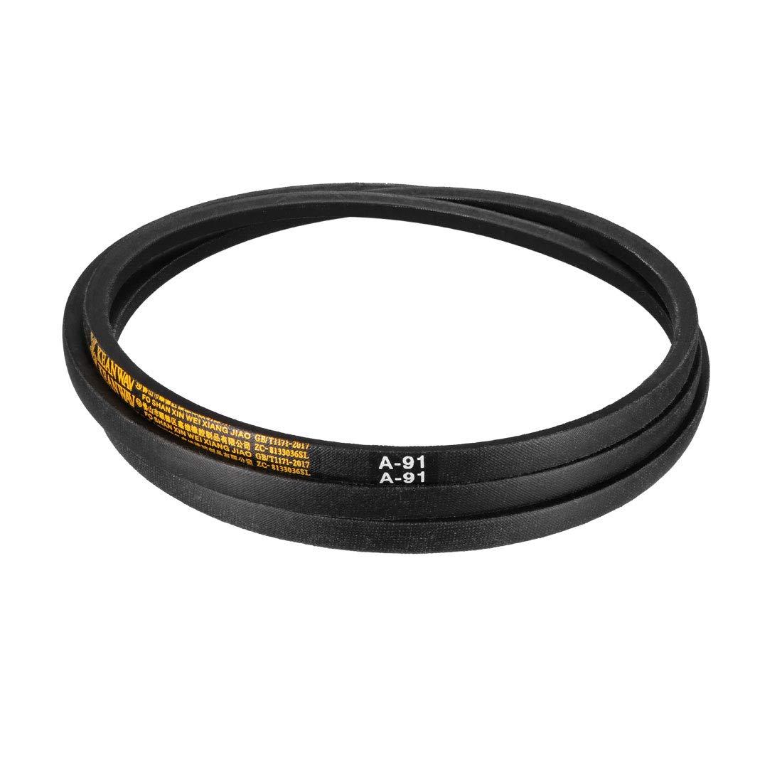 uxcell/® A-88 Drive V-Belt Girth 88-inch Industrial Power Rubber Transmission Belt
