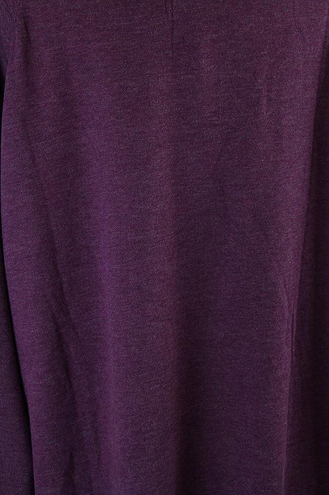 Alfani Womens Plus Heathered Cuffed Pajama Top Purple XXXL