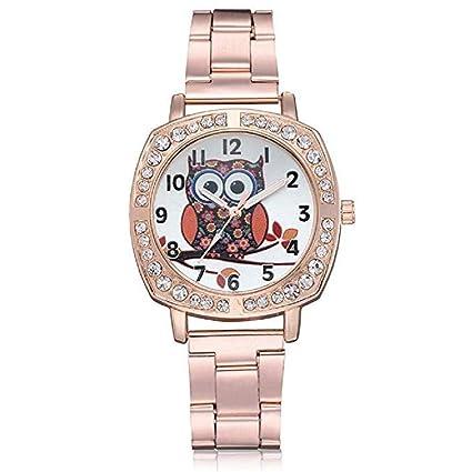 Scpink ClÁSico Reloj para Mujer, Pop Moda Reloj de Cuarzo de Lujo con Diamantes de