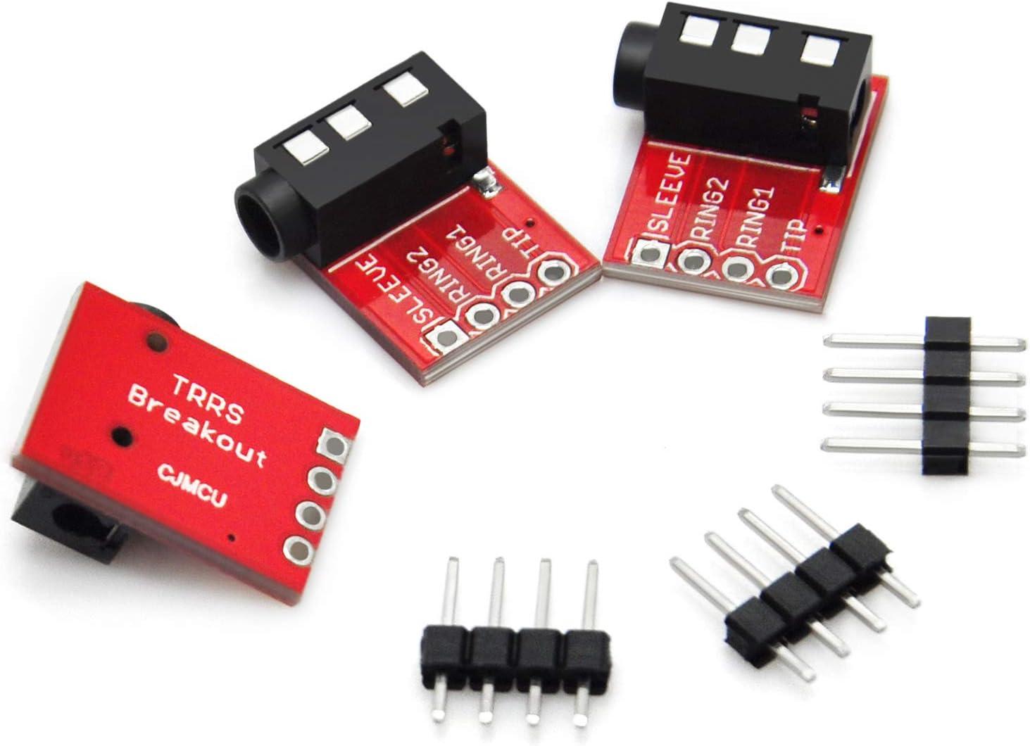 Gikfun TRRS 3.5mm Jack Breakout Headphone Video Audio MP3 Jack for Arduino Pack