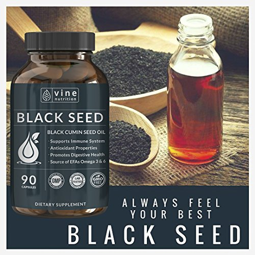 Premium Black Seed Oil Capsules - Nigella Sativa - Immune System Support Soft Gels | Cold Pressed Antioxidant Vegetarian Black Cumin Supplement | 500MG Made In The USA By Vine Nutrition by Vine Nutrition (Image #7)