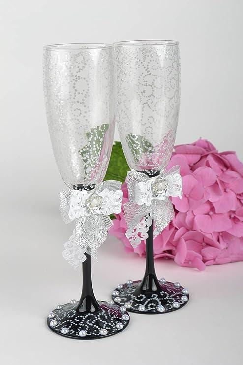 Copas Para Novios Hechos A Mano Vasos De Cristal Decorados