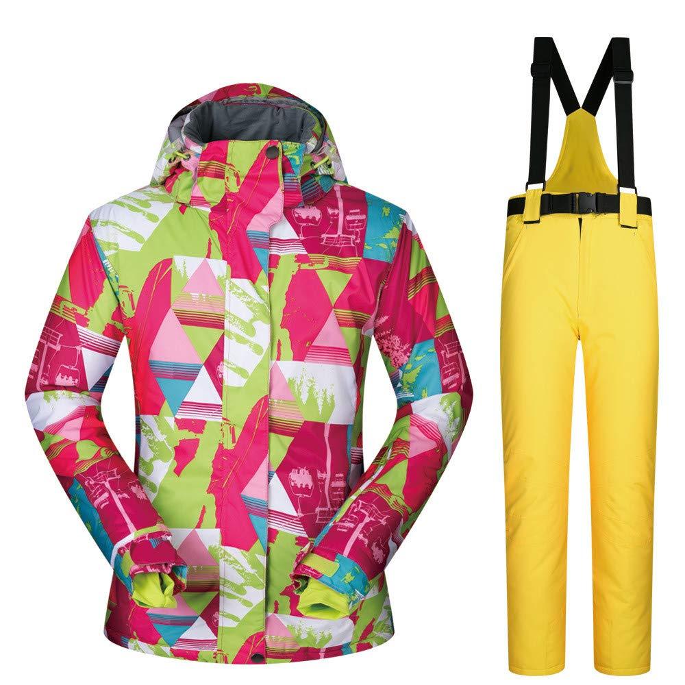 Giacca da sci Tuta da sci tuta da donna donna donna impermeabile invernale con tuta esterna impermeabile con riflettore per le donne Abbigliamento da sci ideale ( Coloreee   nero pants (arancia) , Dimensione   L )B07L3LRRRQXX-Large giallo Pants | Primi Clienti  | Ri 393087
