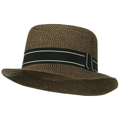 d0c99ee2abca Jeanne Simmons Tweed Porkpie Hat - Brown W20S71C at Amazon Men's ...
